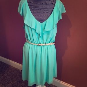 Mint Ruffle Dress for weddings/showers/vacation